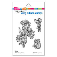 Stampendous - Cling Mounted Rubber Stamps - Enjoy Asters
