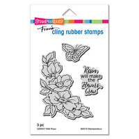 Stampendous - Cling Mounted Rubber Stamps - Wild Rose