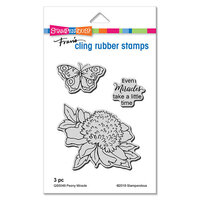 Stampendous - Cling Mounted Rubber Stamps - Peony Miracle