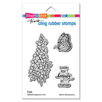 Stampendous - Cling Mounted Rubber Stamps - Delphinium Kind