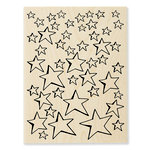 Stampendous - Wood Mounted Stamps - Oh My Stars