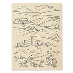 Stampendous - Wood Mounted Stamps - Rolling Hills