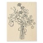 Stampendous - Wood Mounted Stamps - Sweet Pea Bouquet