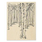 Stampendous - Wood Mounted Stamps - Birch Forest
