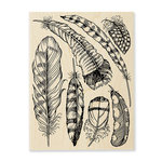 Stampendous - Wood Mounted Stamps - Feathers