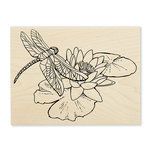 Stampendous - Wood Mounted Stamps - Dragonfly Lily