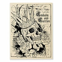 Stampendous - Halloween - Wood Mounted Stamps - Crowned Skull