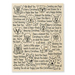 Stampendous - Christmas - Wood Mounted Stamps - Happy Howlidays
