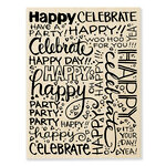 Stampendous - Wood Mounted Stamps - Party Background