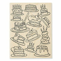 Stampendous - Wood Mounted Stamps - Cake Background