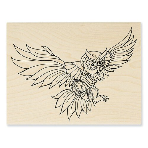Stampendous - Wood Mounted Stamps - Owl Swoop