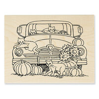 Stampendous - Wood Mounted Stamps - Autumn Truck