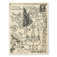 Stampendous - Christmas - Wood Mounted Stamps - Postcard Santa