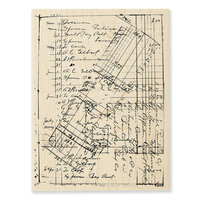 Stampendous - Wood Mounted Stamps - Ledger Script