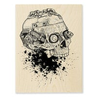 Stampendous - Halloween - Wood Mounted Stamps - Steampunk Skull