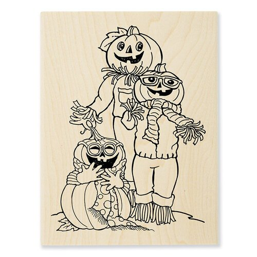 Stampendous - Halloween - Wood Mounted Stamps - Pumpkin Pals