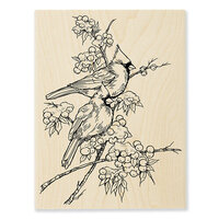 Stampendous - Wood Mounted Stamps - Cardinal Pair