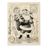 Stampendous - Christmas - Wood Mounted Stamps - Santa Post
