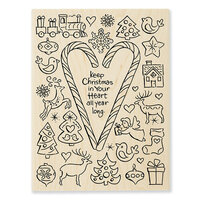 Stampendous - Wood Mounted Stamps - Christmas Candy