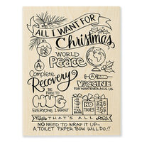 Stampendous - Wood Mounted Stamps - All For Christmas