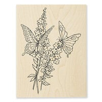 Stampendous - Wood Mounted Stamps - Lacy Butterflies