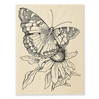Stampendous - Wood Mounted Stamps - Painted Lady