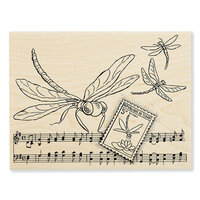 Stampendous - Wood Mounted Stamps - Dragonfly Song