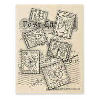 Stampendous - Wood Mounted Stamps - Butterfly Postage