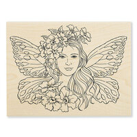 Stampendous - Wood Mounted Stamps - Fairy Wings