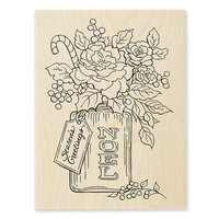 Stampendous - Christmas - Wood Mounted Stamps - Noel Flowers