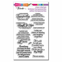 Stampendous - Clear Acrylic Stamps - Sincere Sentiments