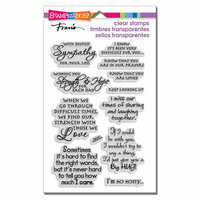 Stampendous - Clear Photopolymer Stamps - Sincere Sentiments