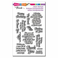 Stampendous - Clear Photopolymer Stamps - Friendly Phrases