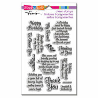 Stampendous - Clear Acrylic Stamps - Friendly Phrases