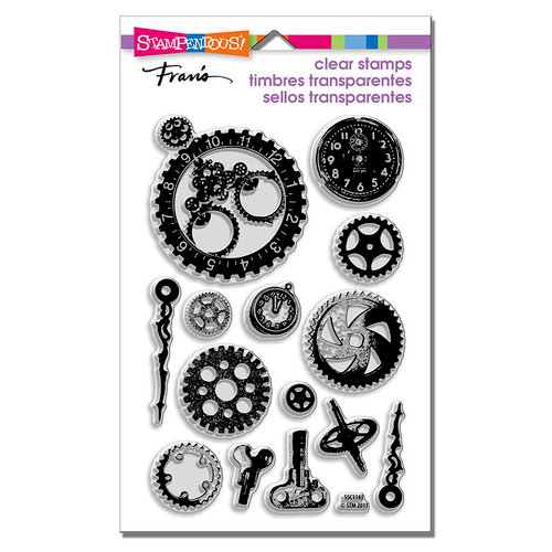 Stampendous - Clear Photopolymer Stamps - Steampunk Gears
