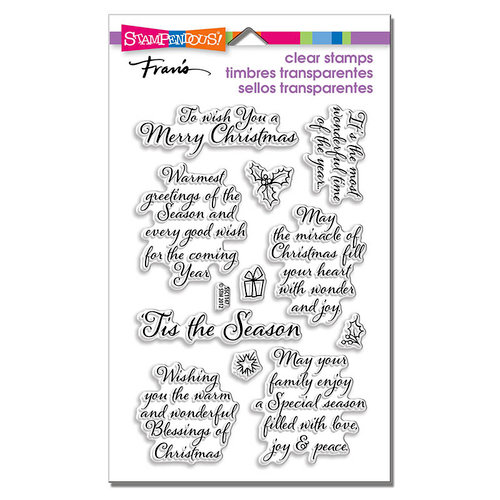Stampendous - Christmas - Clear Photopolymer Stamps - Tis The Season