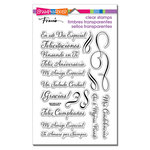 Stampendous - Clear Acrylic Stamps - Spanish Loving Messages