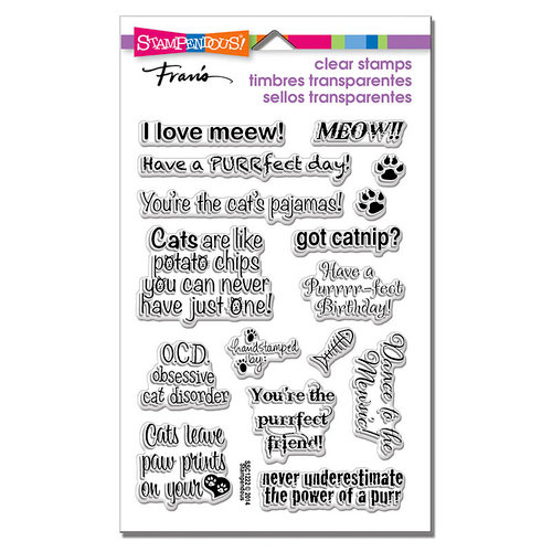 Stampendous - Clear Photopolymer Stamps - Cat Sayings