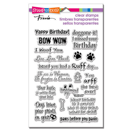 Stampendous - Clear Photopolymer Stamps - Dog Sayings