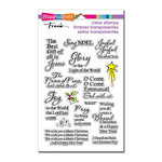 Stampendous - Christmas - Clear Acrylic Stamps - Joyful Phrases