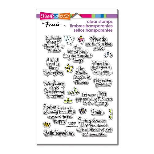 Stampendous - Clear Photopolymer Stamps - Spring Sentiments