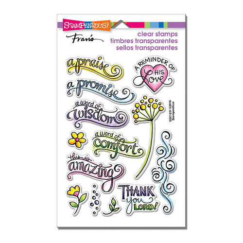 Stampendous - Clear Acrylic Stamps - Bible Promises