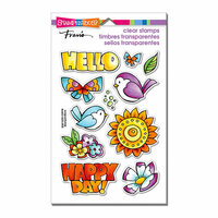 Stampendous - Clear Acrylic Stamps - Happy Birds