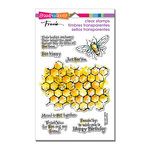 Stampendous - Clear Acrylic Stamps - Honeycomb Wishes