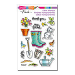 Stampendous - Clear Acrylic Stamps - Garden Boots