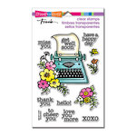 Stampendous - Clear Acrylic Stamps - Floral Typewriter