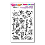 Stampendous - Clear Acrylic Stamps - Brushed Wishes