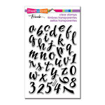 Stampendous - Clear Acrylic Stamps - Brush Alphabet Lower