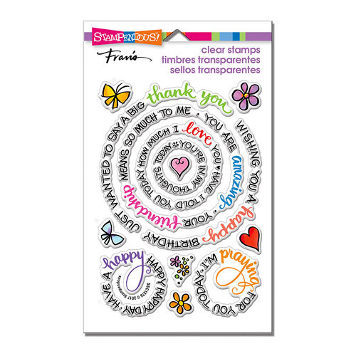 Stampendous - Clear Photopolymer Stamps - Circular Messages