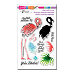 Stampendous - Clear Acrylic Stamps - Flamingo Messages